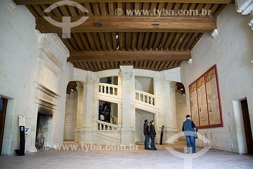 Assunto: Escada em dupla hélice - atribuída a Leonardo da Vinci - no Château de Chambord (Castelo de Chambord) / Local: Indre-et-Loire - França - Europa / Data: 06/2012