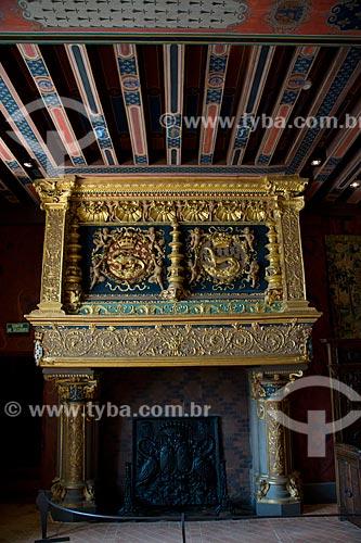 Assunto: Lareira folheada a ouro no Château Royal de Blois (Castelo Real de Blois) / Local: Blois - França - Europa / Data: 06/2012
