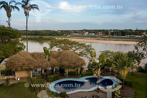 Assunto: Piscina Araguaia Park Hotel e praia fluvial do Rio Araguaia ao fundo / Local: Barra do Garças - Mato Grosso (MT) - Brasil / Data: 10/2012