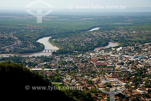 Assunto: Cidade de Barra do Graças vista do morro do Cristo - Rio Araguaia à esquerda e o Rio das Garças à direita / Local: Barra do Garças - Mato Grosso (MT) - Brasil / Data: 10/2012