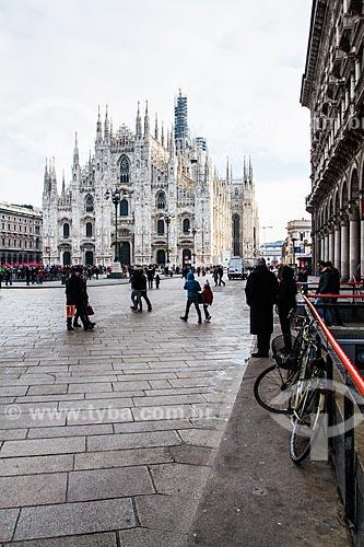 Assunto: Catedral de Milão (Duomo di Milano) na região da Lombardia ao norte da Itália / Local: Milão - Província de Milão - Itália / Data: 12/2012