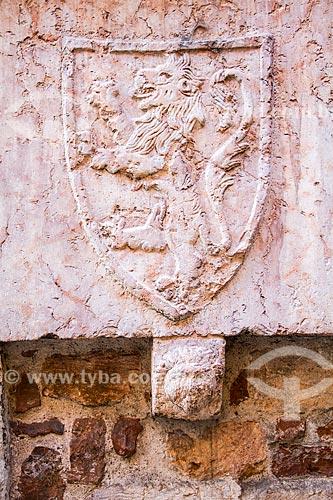 Assunto: Brasão medieval no centro histórico de Verona / Local: Verona - Itália - Europa / Data: 12/2012