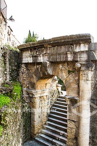 Assunto: Ruínas do Teatro Romano de Verona (Teatro Romano di Verona) / Local: Verona - Itália - Europa / Data: 12/2012