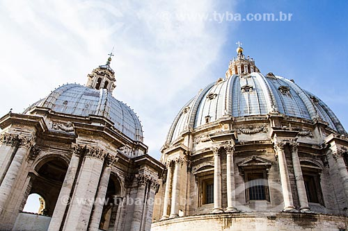 Assunto: Domo visto da parte externa do teto da Basílica de São Pedro / Local: Cidade do Vaticano - Roma - Itália - Europa / Data: 12/2012