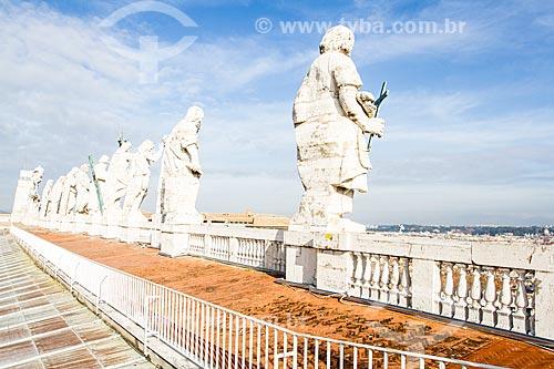 Assunto: Estátuas dos Apóstolos no teto da Basílica de São Pedro  / Local: Cidade do Vaticano - Roma - Itália - Europa / Data: 12/2012