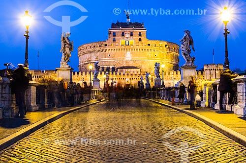 Assunto: Castelo de Santo Ângelo e Ponte de Sant Angelo / Local: Roma - Itália - Europa / Data: 12/2012