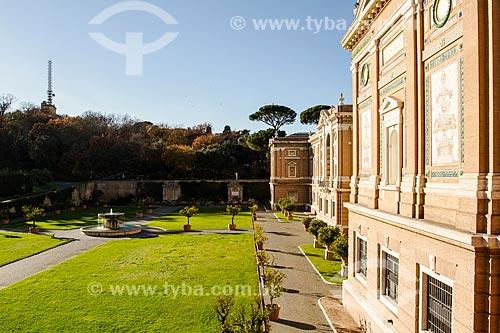 Assunto: Fachada interna do Museu do Vaticano vista da Cortile del Belvedere / Local: Cidade do Vaticano - Roma - Itália - Europa / Data: 12/2012