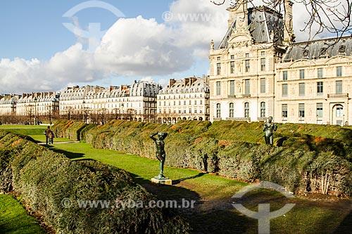 Assunto: Pavillon de Flore (Pavilhão da Flora) - parte do Palais des Tuileries (Palácio das Tulherias) já demolido / Local: Paris - França - Europa / Data: 01/2013