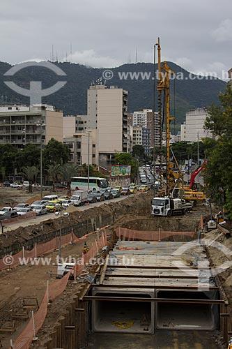Assunto: Obra de desvio do Rio Joana - visa evitar as enchentes na região / Local: Maracanã - Rio de Janeiro (RJ) - Brasil / Data: 03/2013