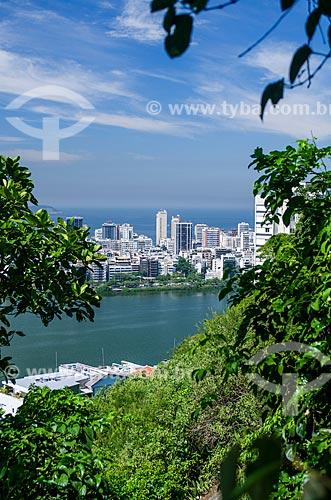 Assunto: Vista da Lagoa Rodrigo de Freitas na subida para o Parque Natural Municipal da Catacumba / Local: Lagoa - Rio de Janeiro (RJ) - Brasil / Data: 03/2013