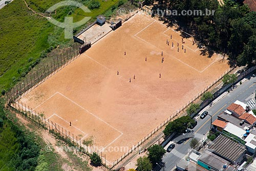 Assunto: Campo de futebol de terra / Local: Distrito de Perus - São Paulo (SP) - Brasil / Data: 02/2013
