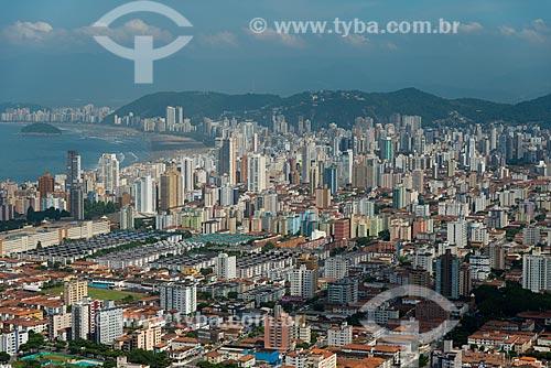 Assunto: Vista aérea da orla da cidade de Santos / Local: Santos - São Paulo (SP) - Brasil / Data: 02/2013