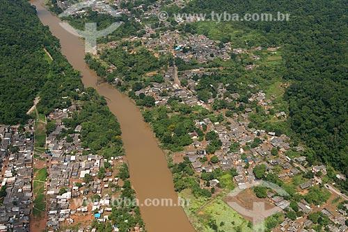 Assunto: Cheia do Rio Cubatão após chuva / Local: Cubatão - São Paulo (SP) - Brasil / Data: 02/2013