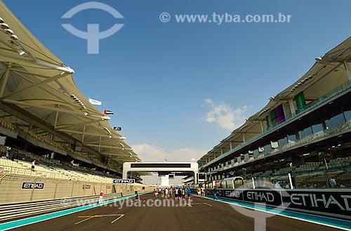Assunto: Arquibancada do Autódromo de Abu Dhabi (Circuito de Yas Marina) / Local: Ilha Yas - Abu Dhabi - Emirados Árabes Unidos - Ásia / Data: 11/2012