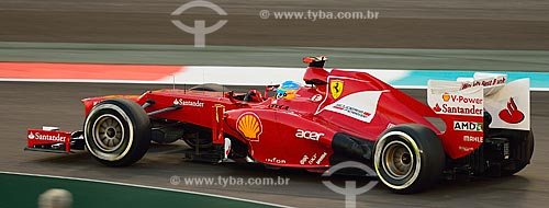 Assunto: Fernando Alonso (Ferrari) durante o Grande Prêmio de Fórmula 1 no Autódromo de Abu Dhabi (Circuito de Yas Marina) / Local: Ilha Yas - Abu Dhabi - Emirados Árabes Unidos - Ásia / Data: 11/2012