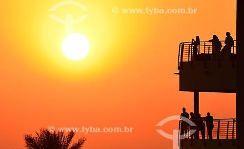 Assunto: Vista do Pôr do sol e arquibancada no Autódromo de Abu Dhabi (Circuito de Yas Marina) / Local: Ilha Yas - Abu Dhabi - Emirados Árabes Unidos - Ásia / Data: 11/2012