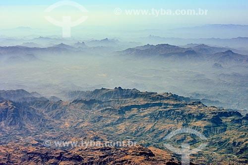Assunto: Vista de Montanhas em Marib / Local: Marib - Iêmen - Ásia / Data: 10/2012