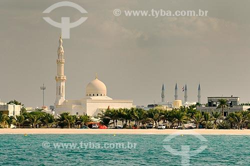 Assunto: Vista da Praia de Jumeirah e Mesquita Jumeirah / Local: Dubai - Emirados Árabes Unidos - Ásia / Data: 12/2012