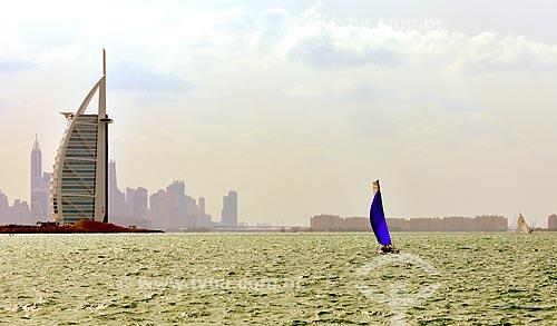 Assunto: Vista do hotel Burj Al Arab / Local: Dubai - Emirados Árabes Unidos - Ásia / Data: 12/2012
