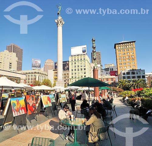 Assunto: Quadros à venda na Union Square / Local: São Francisco - Califórnia - Estados Unidos da América - EUA / Data: 02/2013