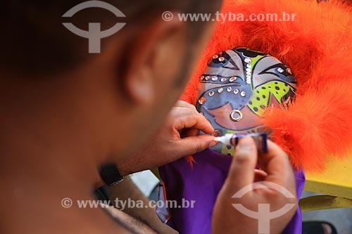 Assunto: Integrante do Turma da Praça - Grupo de Clovis ou Bate - bola de Marechal Hermes / Local: Marechal Hermes - Rio de Janeiro (RJ) - Brasil / Data: 02/2013