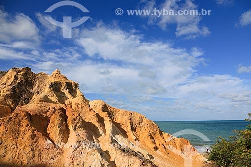Assunto: Falésias na praia de Pitimbu / Local: Pitimbu - Paraíba (PB) - Brasil / Data: 01/2013