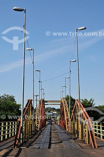 Assunto: Ponte da Amizade (1921) - também conhecida com Ponte Velha ou Roldão de Oliveira / Local: Aquidauana - Mato Grosso do Sul (MS) - Brasil / Data: 01/2013