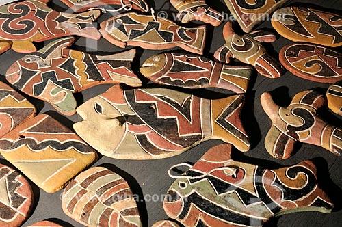 Assunto: Artesanato feito pelos Índios Kadiwéus à venda na casa do artesão em Aquidauana / Local: Aquidauana - Mato Grosso do Sul (MS) - Brasil / Data: 01/2013