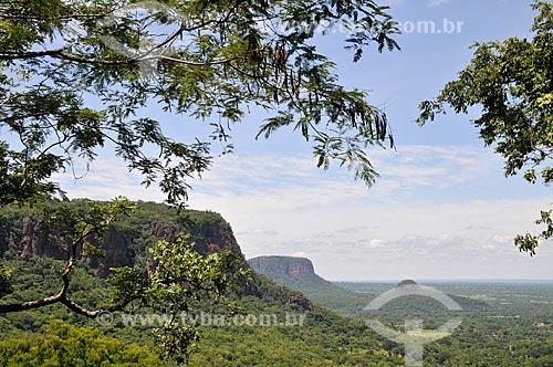 Assunto: Vista da Serra de Maracaju com o Morro Azul e o Morro do Chapéu ao fundo / Local: Aquidauana - Mato Grosso do Sul (MS) - Brasil / Data: 01/2013