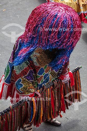 Assunto: Caboclos de lança em apresentação de Maracatu Rural - também conhecido como Maracatu de Baque Solto (Maracatu Águia Dourada) / Local: Nazaré da Mata - Pernambuco (PE) - Brasil / Data: 02/2013