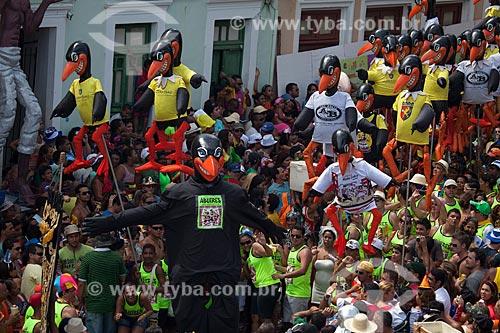 Assunto: Apresentação do Bloco Abutres na Praça Monsenhor Fabricio - também conhecida como Praça ou Largo da Prefeitura - durante o carnaval / Local: Olinda - Pernambuco (PE) - Brasil / Data: 02/2013