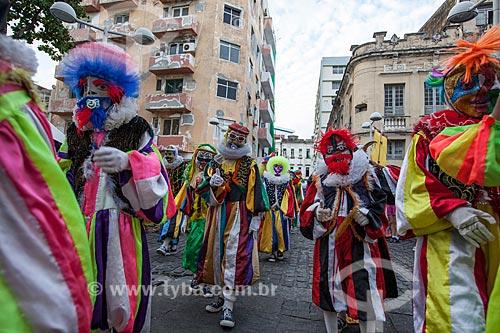 Assunto: Grupo de Clóvis Periquitos de Zumbi durante o carnaval / Local: Recife - Pernambuco (PE) - Brasil / Data: 02/2013