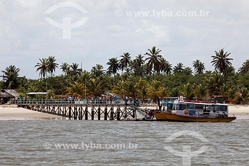 Assunto: Terminal Hidroviário na Praia de Costinha às margens do Rio Paraíba - balsa de travessia entre Costinha e Cabedelo / Local: Lucena - Paraíba (PB) - Brasil / Data: 02/2013