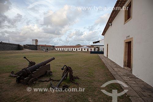 Assunto: Canhão no Forte de Santa Catarina do Cabedelo (1585) - também conhecida como Fortaleza de Santa Catarina / Local: Cabedelo - Paraíba (PB) - Brasil / Data: 02/2013