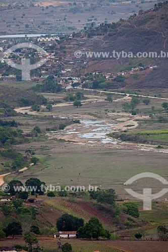 Assunto: Vista da região do Brejo Paraibano com leito do Rio Mamanguape no período da seca e a cidade de Alagoa Grande ao fundo / Local: Alagoa Grande - Paraíba (PB) - Brasil / Data: 02/2013
