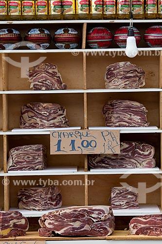 Assunto: Charque - carne bovina salgada - à venda no Mercado de São José / Local: Recife - Pernambuco (PE) - Brasil / Data: 02/2013