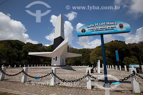 Assunto: Farol do Cabo Branco (1972) - ponto mais oriental do Brasil / Local: Cabo Branco - João Pessoa - Paraíba (PB) - Brasil / Data: 02/2013
