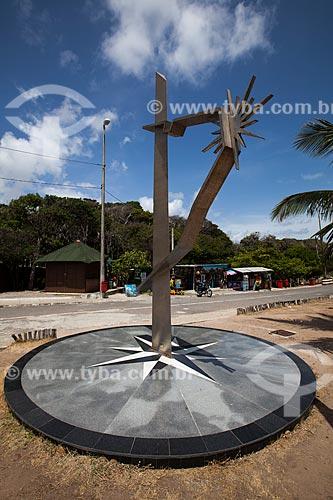 Assunto: Monumento Rosa dos Ventos na Ponta do Seixas - ponto mais oriental do Brasil / Local: Cabo Branco - João Pessoa - Paraíba (PB) - Brasil / Data: 02/2013