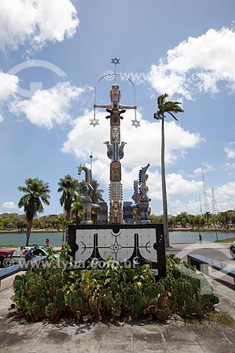 Assunto: Monumento A Pedra do Reino (2009) - Homenagem a Ariano Suassuna / Local: João Pessoa - Paraíba (PB) - Brasil / Data: 02/2013
