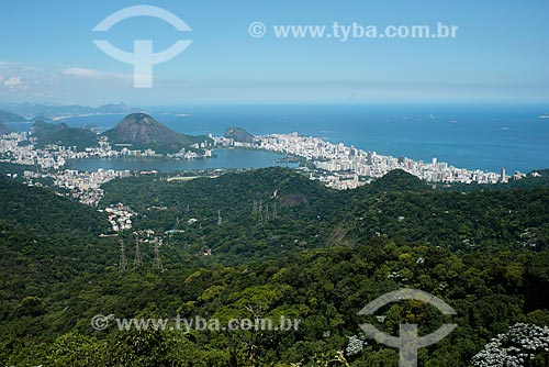 Assunto: Vista da Floresta da Tijuca e Lagoa Rodrigo de Freitas ao fundo / Local: Rio de Janeiro (RJ) - Brasil / Data: 02/2013
