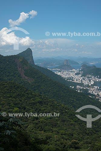 Assunto: Vista da Floresta da Tijuca,Cristo Redentor e Pão de Açúcar ao fundo / Local: Rio de Janeiro (RJ) - Brasil / Data: 02/2013