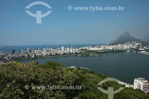 Assunto: Vista da Lagoa Rodrigo de Freitas e Morro Dois Irmãos ao fundo / Local: Rio de Janeiro (RJ) - Brasil / Data: 03/2013