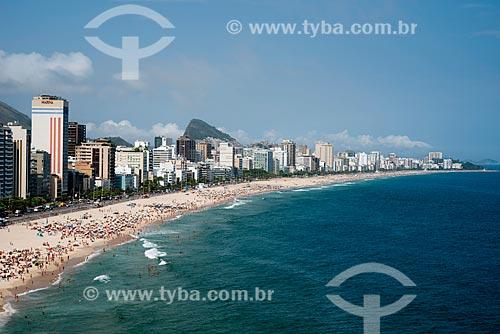 Assunto: Vista das Praias de Leblon e Ipanema / Local: Rio de Janeiro (RJ) - Brasil / Data: 03/2013
