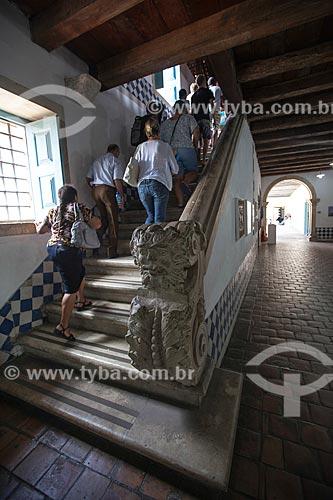 Assunto: Escada de acesso ao segundo andar do Convento de Santo Antônio no Centro Cultural São Francisco / Local: João Pessoa - Paraíba (PB) - Brasil / Data: 02/2013