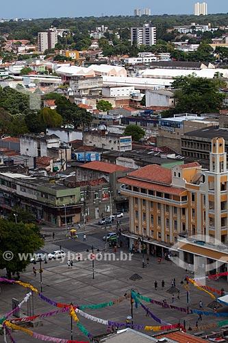 Assunto: Praça Vidal de Negreiros - também conhecida como Ponto de Cem Réis - com os prédios ao fundo / Local: João Pessoa - Paraíba (PB) - Brasil / Data: 02/2013