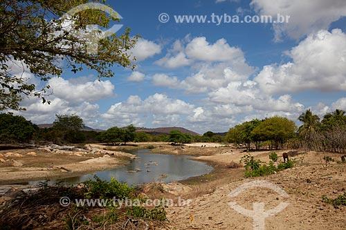 Assunto: Rio Bacamarte na região do Sitio Pedra Lavrada / Local: Ingá - Paraíba (PB) - Brasil / Data: 02/2013