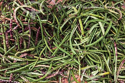 Assunto: Feijões à venda na feira livre da cidade de Guarabira - conhecidos localmente como feijão verde / Local: Guarabira - Paraíba (PB) - Brasil / Data: 02/2013
