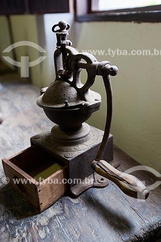 Assunto: Moedor de café em exposição no Museu do Brejo Paraibano - também conhecido como Museu da Rapadura - da Universidade Federal da Paraíba / Local: Areia - Paraíba (PB) - Brasil / Data: 02/2013