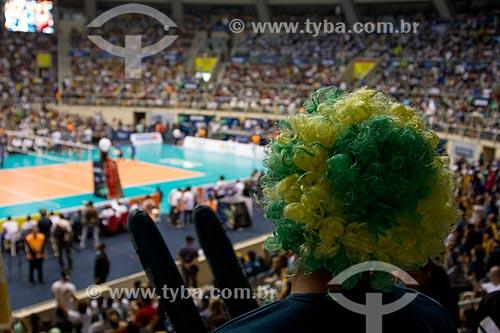 Torcedor no jogo entre RJX x Sada Cruzeiro - jogo final da Superliga Masculina de Vôlei temporada 2012/13 no Ginásio Gilberto Cardoso (1954) - também conhecido como Maracanãzinho   - Rio de Janeiro - Rio de Janeiro - Brasil