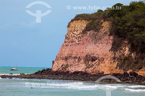 Assunto: Falésia na Praia do Madeiro  / Local: Tibau do Sul - Rio Grande do Norte (RN) - Brasil / Data: 03/2013